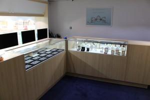 Birmingham Jewellery Quarter Showroom - Inside counters