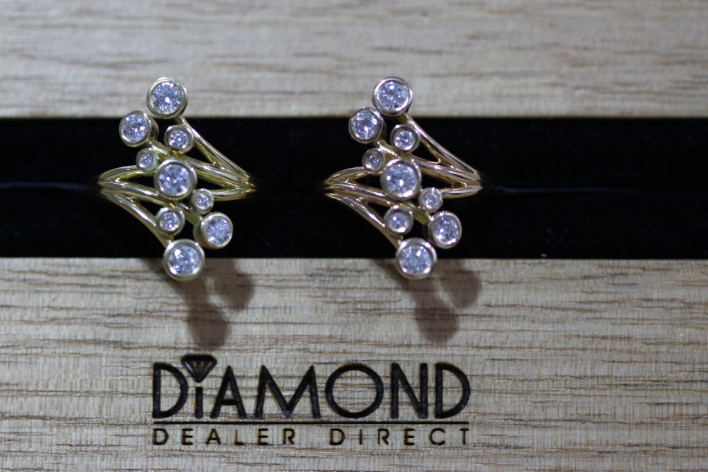 great christmas gift diamond bubble rings