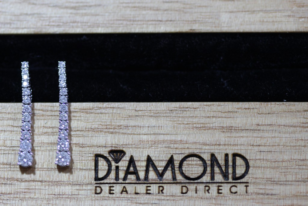 christmas gift idea diamond set drop earrings
