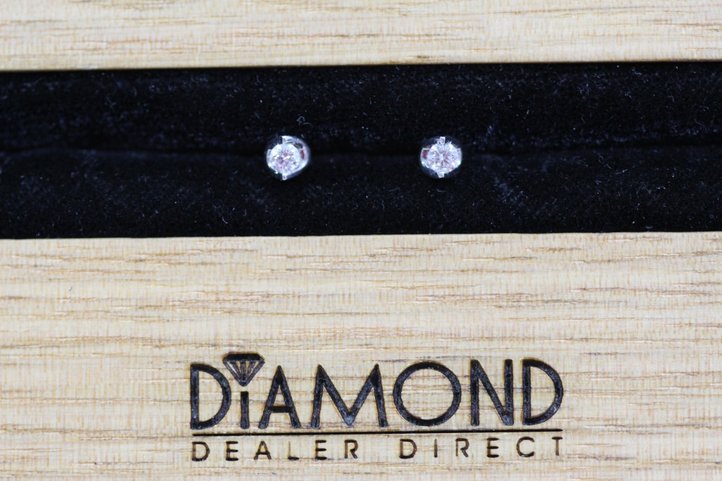 perfect christmas gift white gold diamond set studs