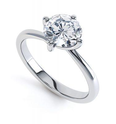 Francesca 4 Claw Twist Engagement Ring