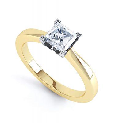 Elena Classic Princess Cut Solitaire Ring
