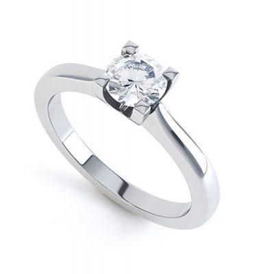 Elpida Excellent Round Diamond Engagement Ring