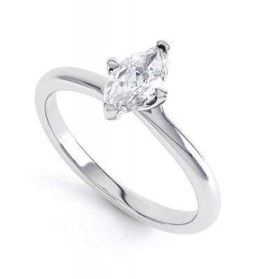 Dominica 4 Claw Twist Marquise Diamond Engagement Ring
