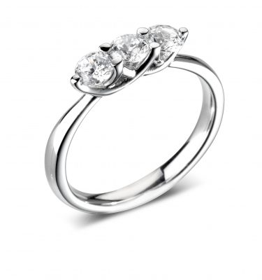 Fabiola Lovely Three Round Diamond Engagement Ring