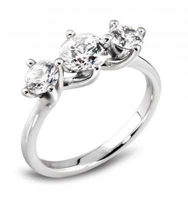 Dirce Breathtaking Three Round Stone Diamond Ring