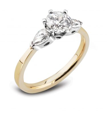 Domina Round and Pear Trilogy Engagement Ring