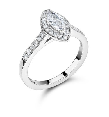 Dessa Astonishing Marquise Cut Halo Diamond Engagement Ring
