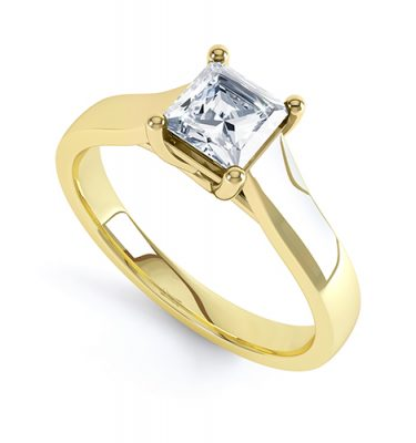 Cleopatra Beautiful Four Claw Princess cut Engagement Ring