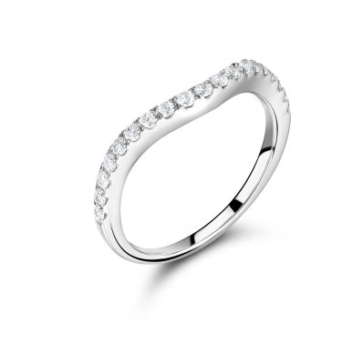 Cassidy round diamond half eternity ring