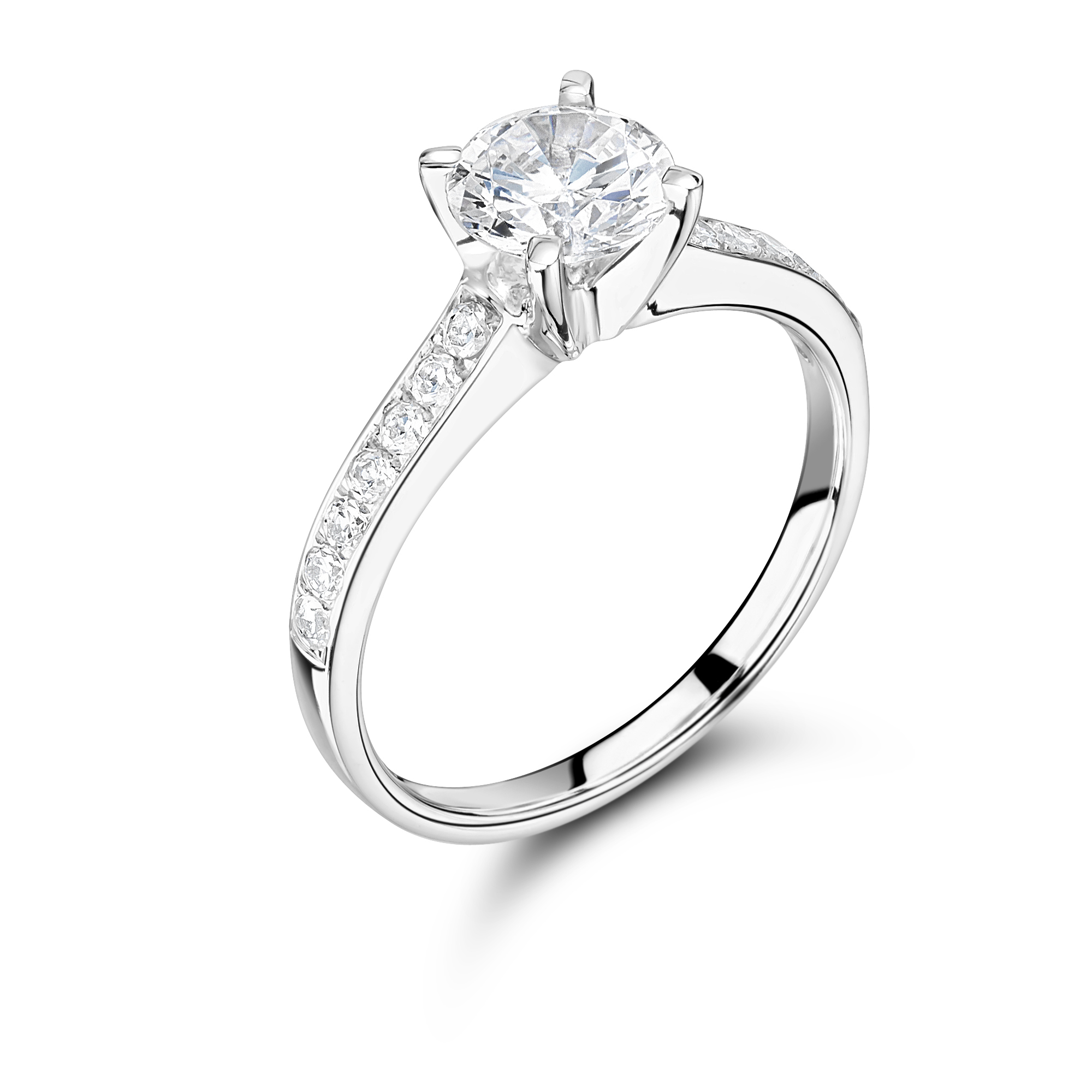 a engagement wedding round solitaire ring cut diamond platinum rings carat brilliant