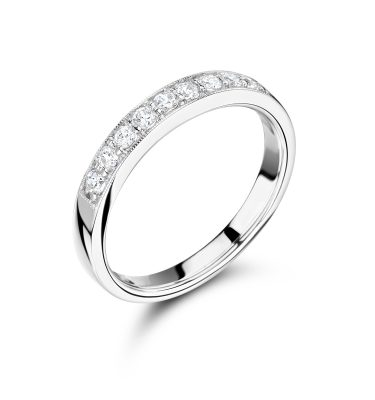 Kourtney elegant round diamond eternity ring
