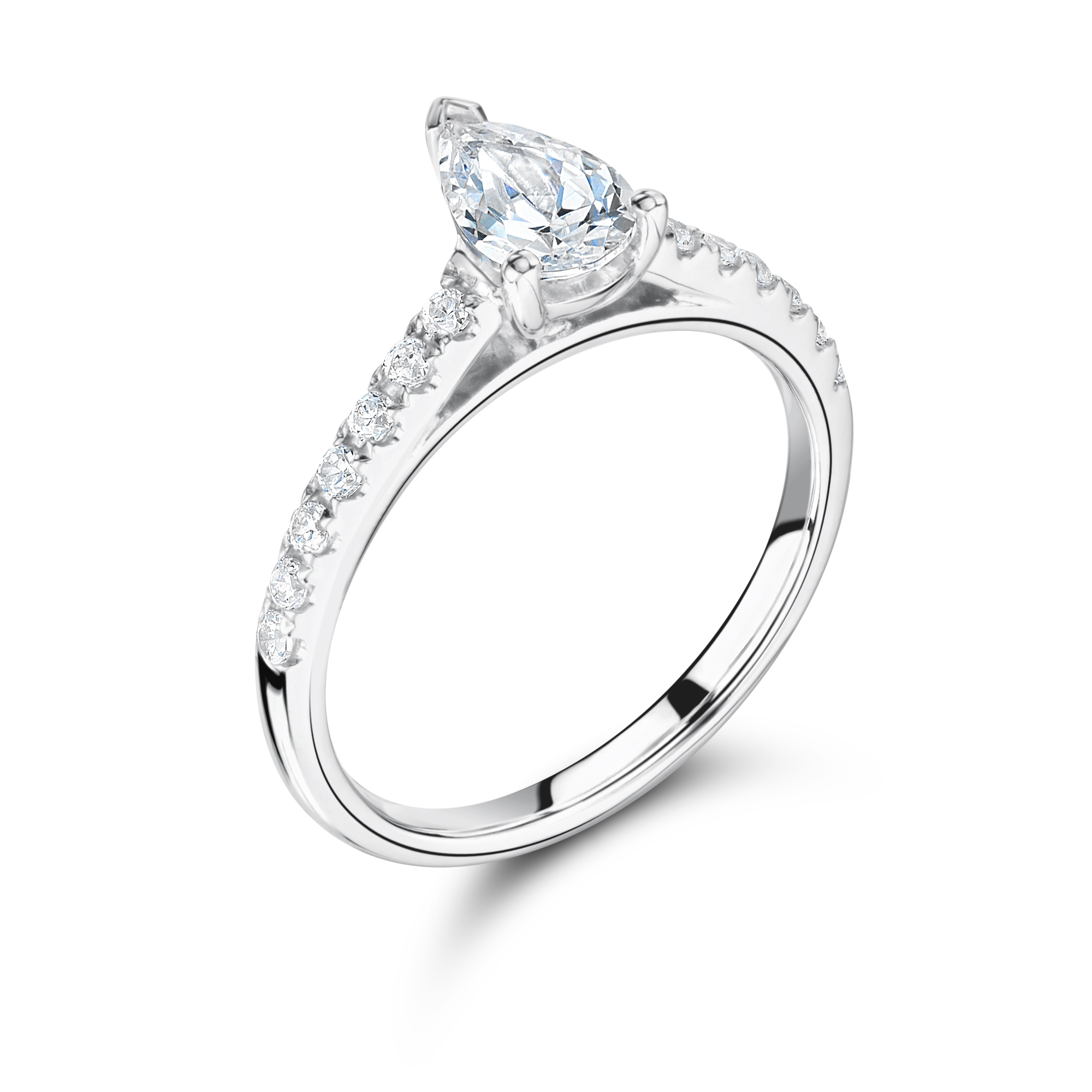 baguette diamond engagement platinum ring wedding with in rings diamonds of estate best pear shaped