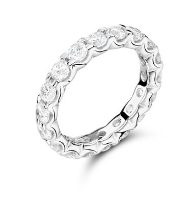 Hibba petite round diamond full eternity ring