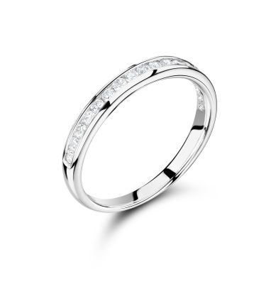 Bronte impressive 50% round diamond eternity ring