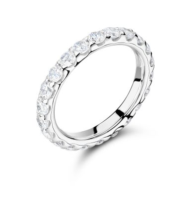 Adeline luxurious round diamond full eternity ring