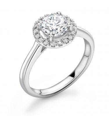 Gemma Phenomenal Round Diamond Halo Engagement Ring