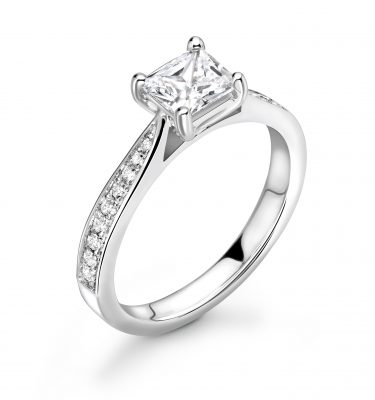 Kaylee Princess and Round Diamond Engagement Ring