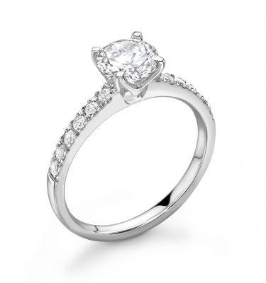 Luna Elegant Round Diamond Shoulder Set Engagement ring