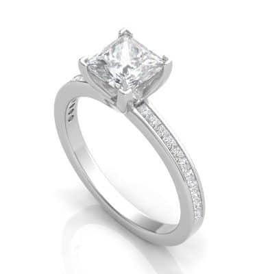 Serenity Princess Cut Ring