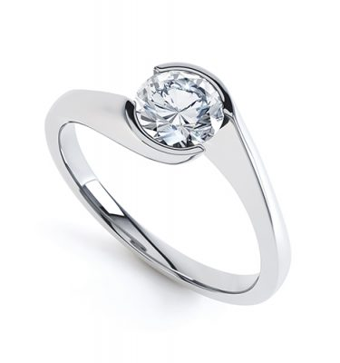 Lauren Perfect Round Diamond Solitaire Ring