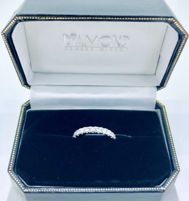Pave-Set Diamond Wedding Band in