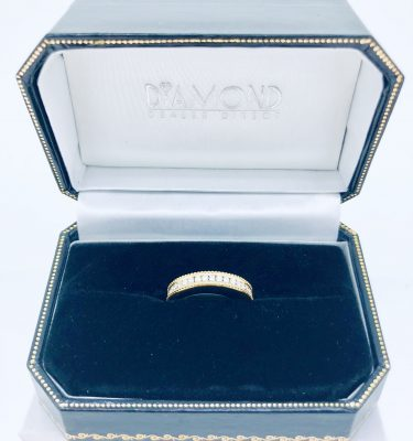 Pave Diamond Eternity Ring In Yellow Gold