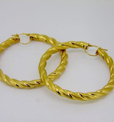 6.4 cm gold hoop earrings