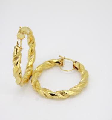 9 carat yellow gold hoop earring