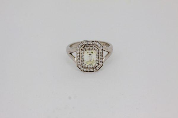 victorian emerald cut diamond ring