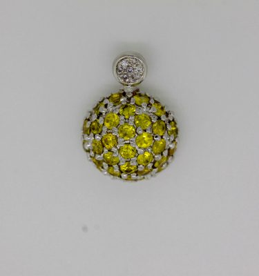 1.09ct Yellow Sapphire Pendant