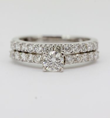 Round Diamond Bridal Set