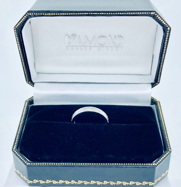 Triple Row Baguette and Round 0.29ct Wedding Diamond Ring