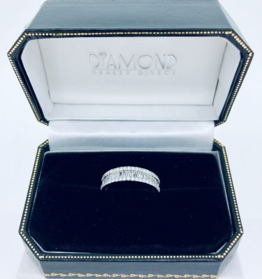 Triple Row Baguette & Round Diamond Eternity Ring